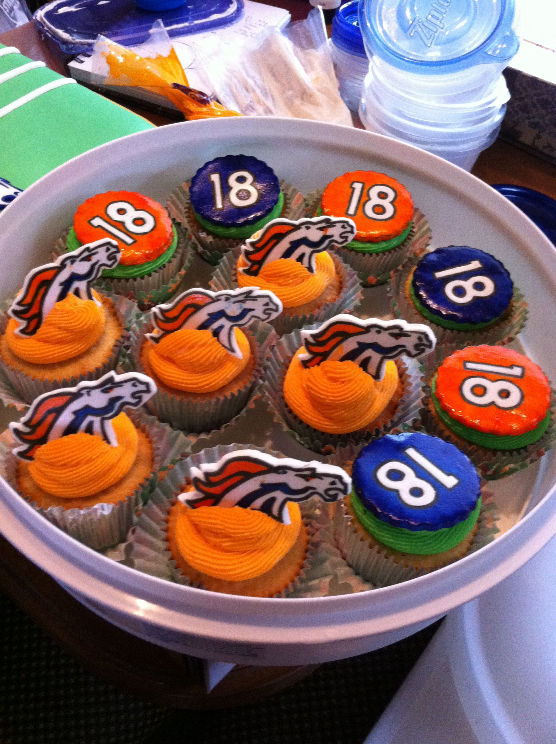 Denver Broncos Cupcakes Game Day Food Food Baking Recipes