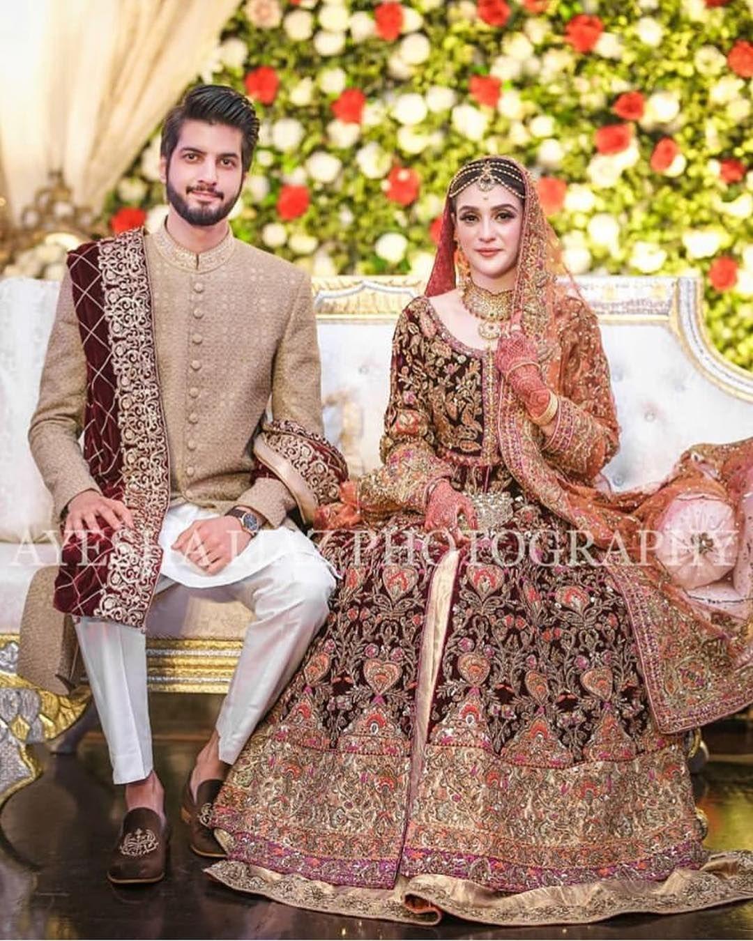 Awesome Wedding Photos Of Singer Abdullah Qureshi Daily Infotainment Couple Wedding Dress Bridal Dresses Pakistan Pakistani Bridal Dresses