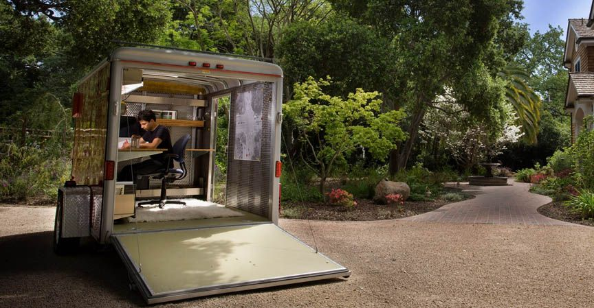 Andreas Stavropoulos of XS/LA builds a mobile office into a 2003 ...