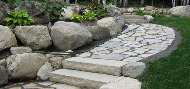 Escalier extérieur Nos Réalisations en Aménagement paysager - realiser un escalier exterieur