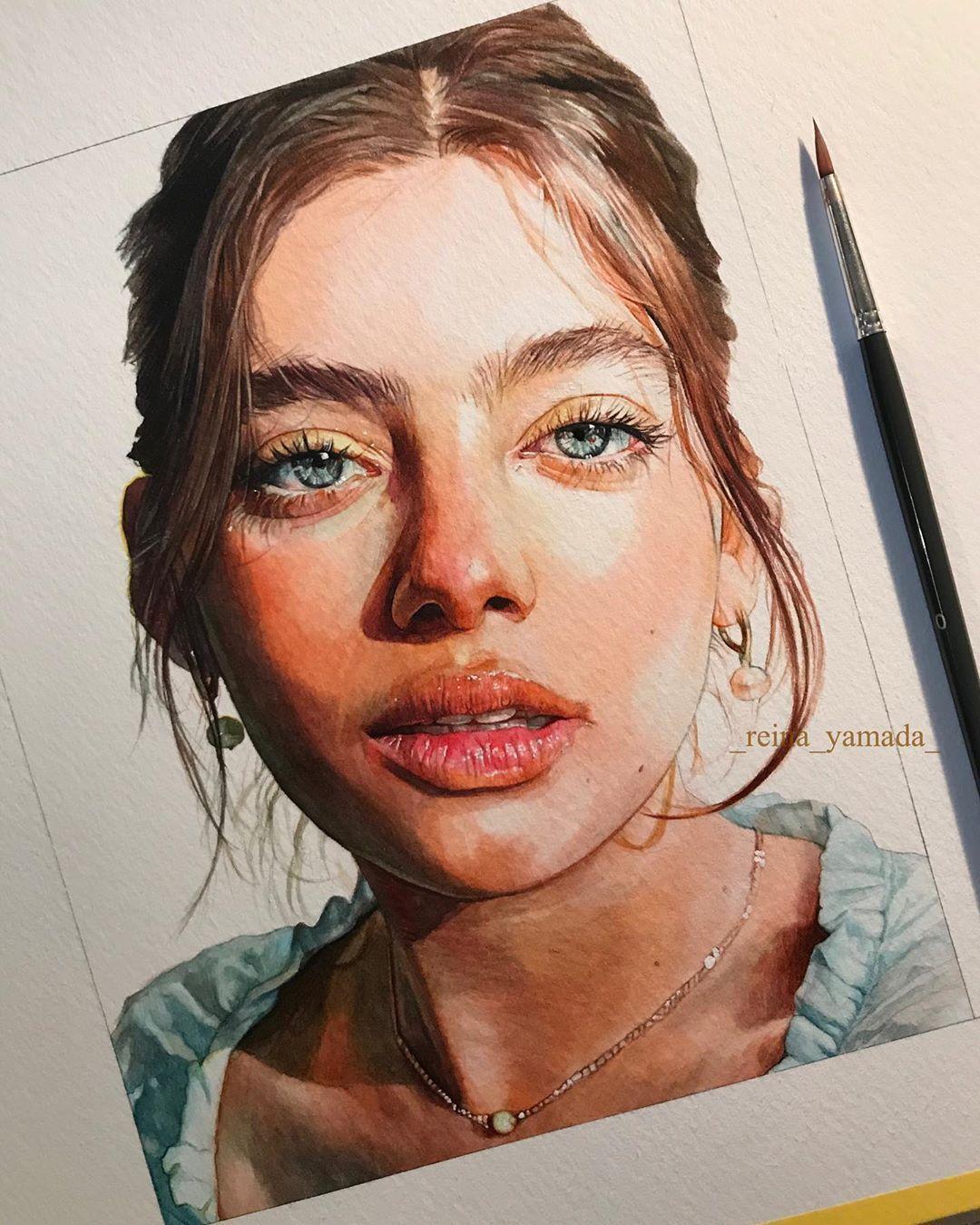 Watercolor Art By Reina Yamada | ARTWOONZ Artwoonz - Watercolor