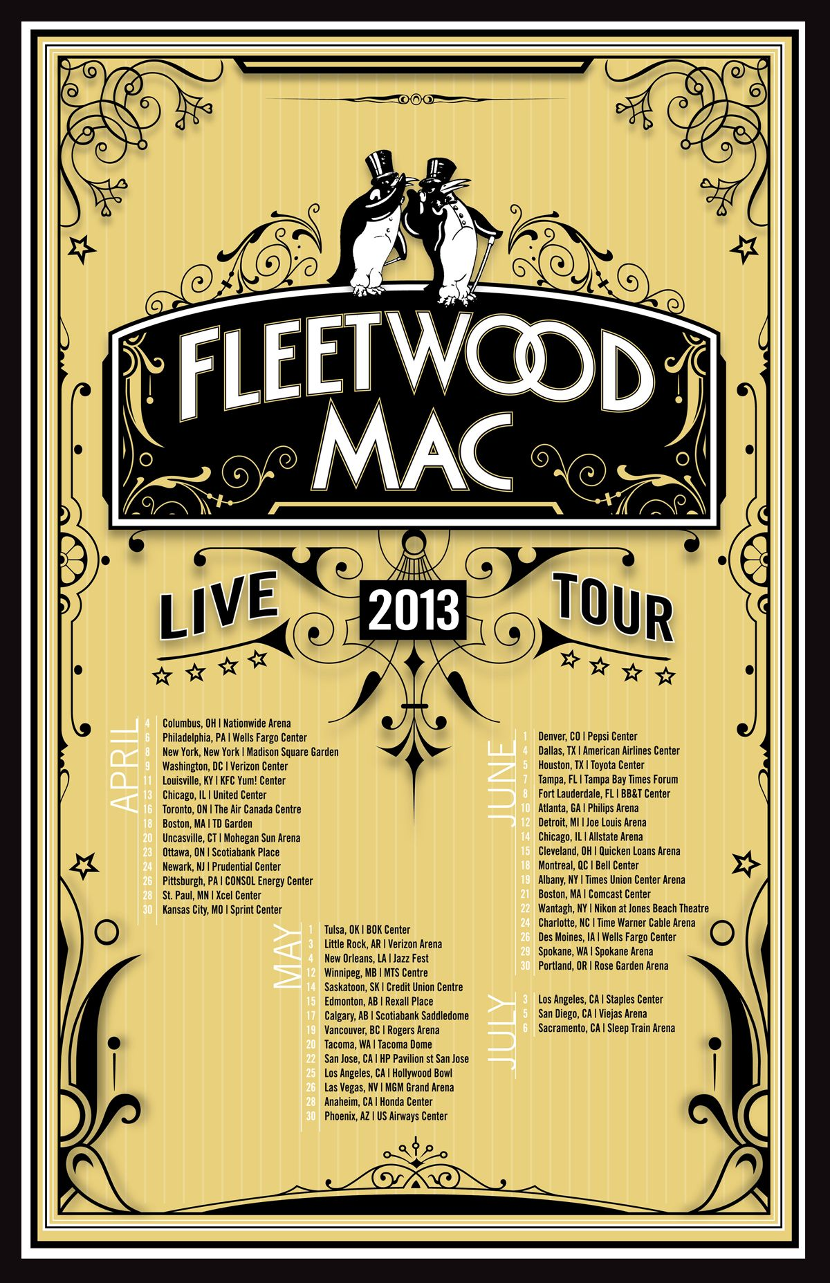 Poster design mac - Fleetwood Mac Rumours Anniversary 2013 Tour Poster Design Contest Terry Hill Designs