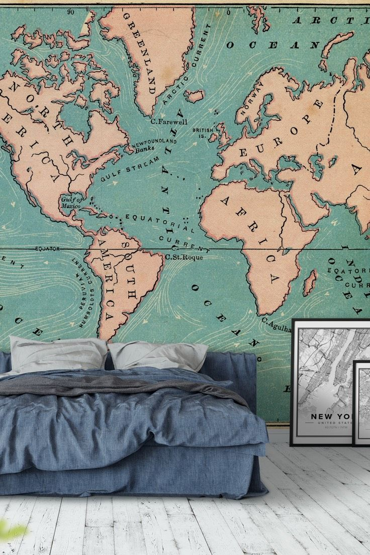 World map retro wall mural wallpaper map wall murals pinterest world map retro wallpaper wall mural maps gumiabroncs Gallery