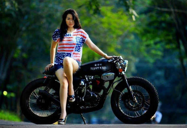 Gambar Modif Honda Tiger Tangki Gl100 Cafe Racer Cafe Racer