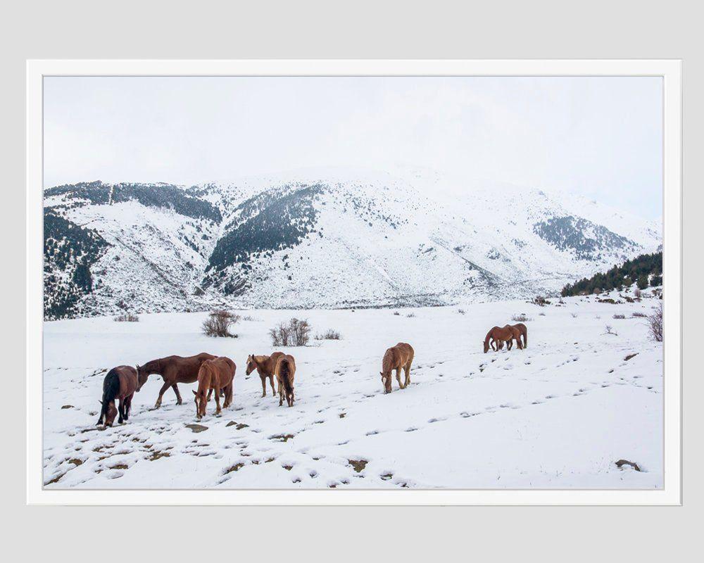 Set Of 3 Wall Decor Mountain Prints Horses Print Horses Etsy Horse Wall Art Nordic Print Horse Print