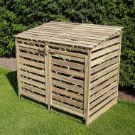 Mülltonnenbox aus Holz bei Multimagnet.de