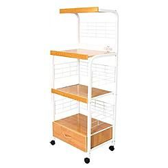 Add Space And Convenience To Your Kitchen With This Three Tier Microwave  Cart. It Has Three Shelves And A Drawer To Increase Your Kitchenu0027s Storage  Space, ...