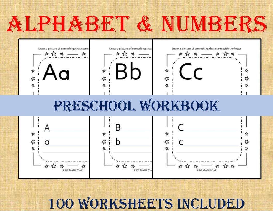 Alphabet Amp Numbers 100 Worksheets Preschool Worksheets