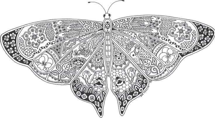 Adult Coloring Pages: Butterfly 2 | Drawing | Pinterest | Adult ...