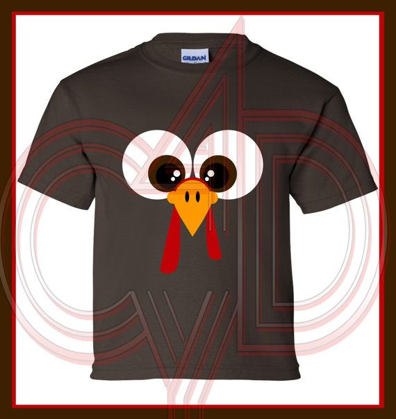 Turkey face Holiday Thanksgiving Cute bodysuit by CustomDesigns43, $10.00