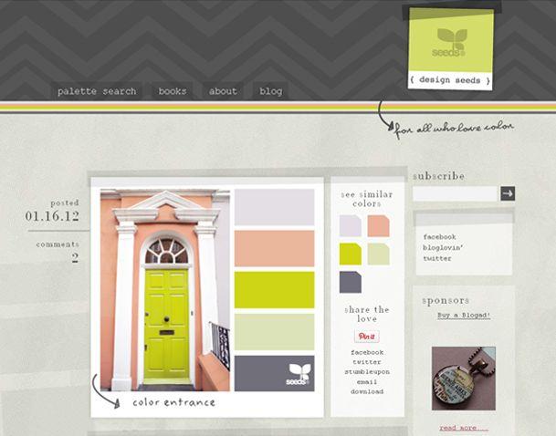 Design Seeds... Great website for color palettes.