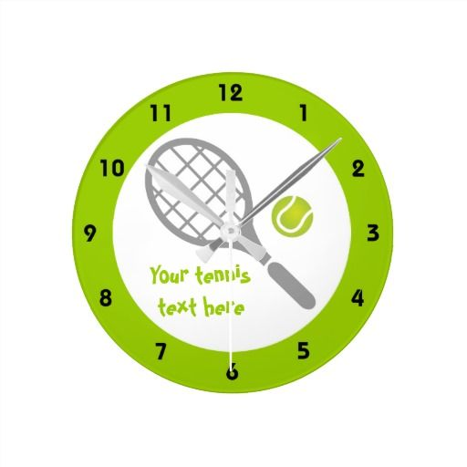 Tennis racket and ball custom clocks. #tennis, #ball, #racket, #tennisgifts, #wllclocks See more tennis gifts here http://www.zazzle.com/sports_gifts/products/cg-196181571095549222?rf=238228936251904937&CMPN=zBookmarklet