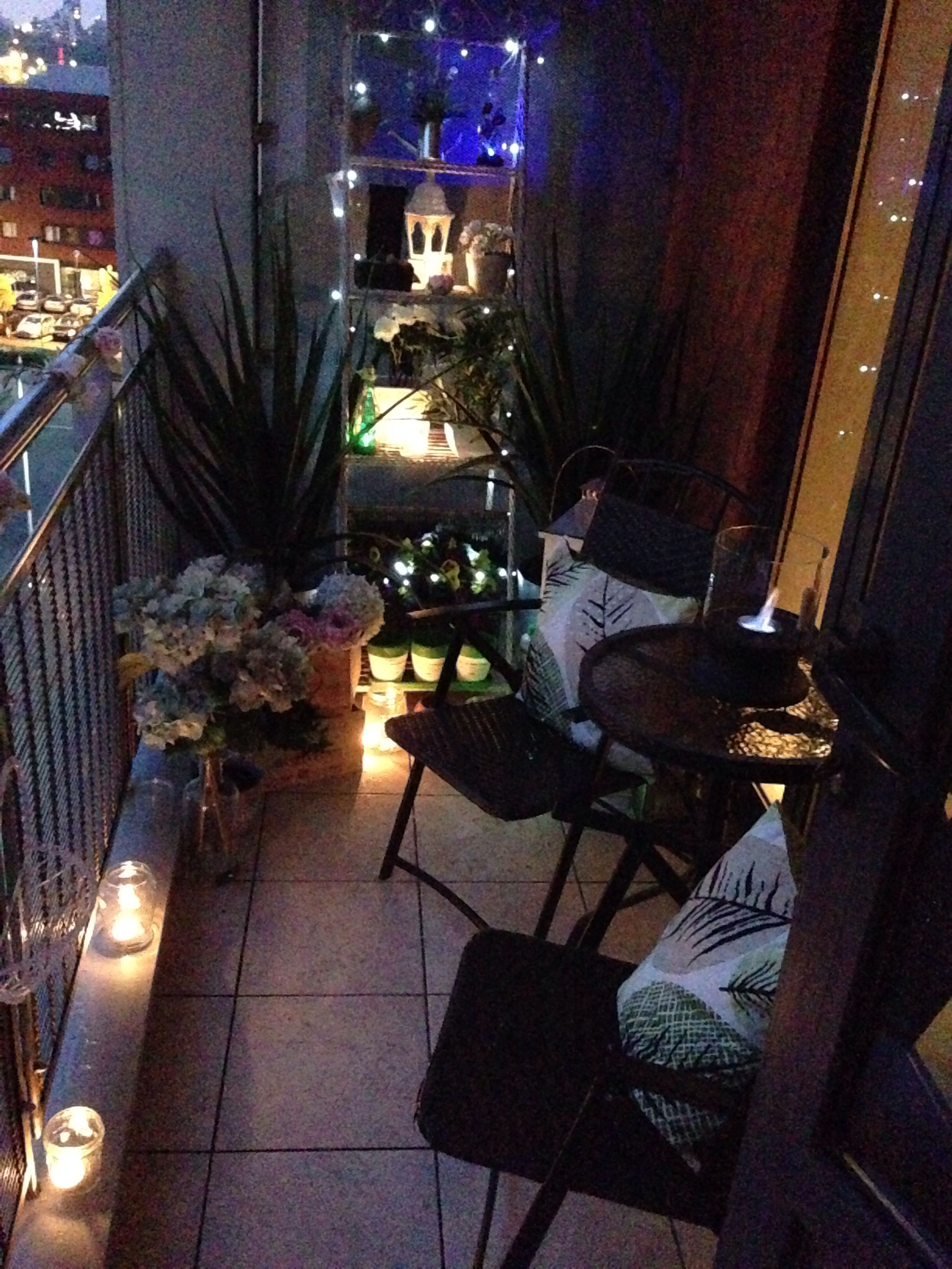 Lighting for small balconies - Small Balcony Fairy Lights