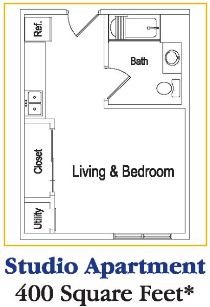 Senior Living At The Residences At Deer Creek Studio Apartment Floor Plans Apartment Floor Plans Apartment Floor Plan