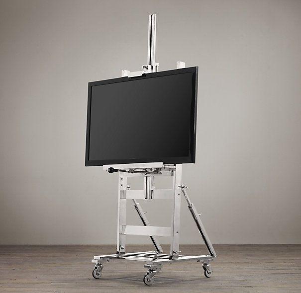 Tv Easel Polished Nickel Metal Easel Easel Tv Stand