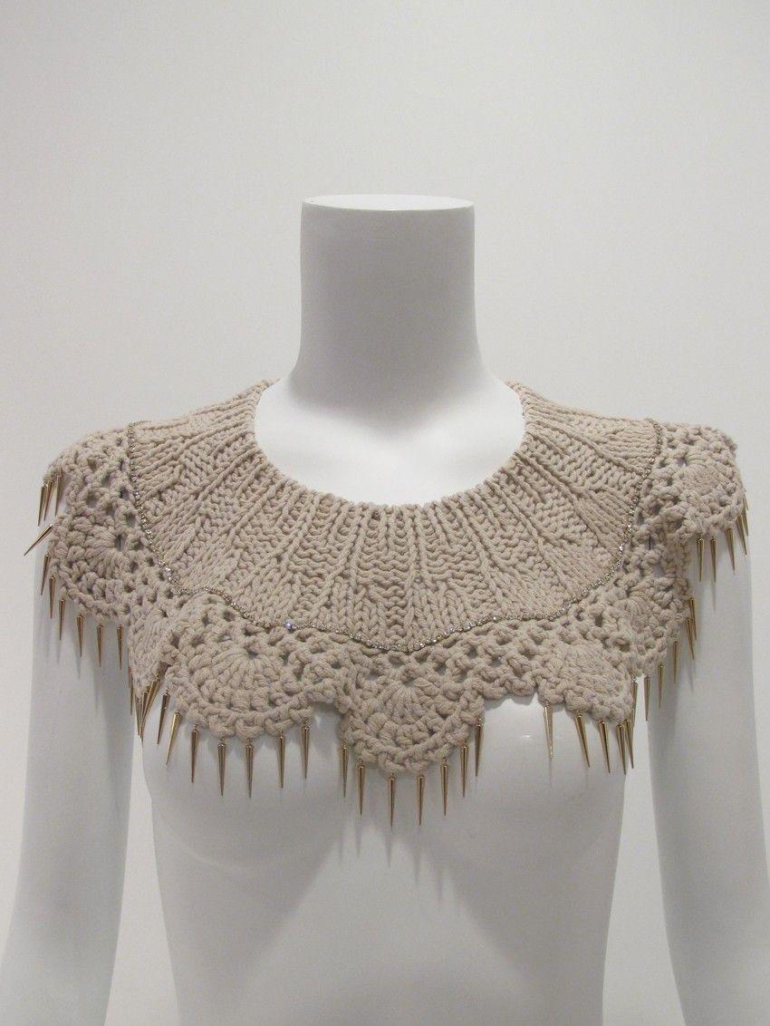 Hilary's Diamond Crochet Lace Collar - Johanna Ho