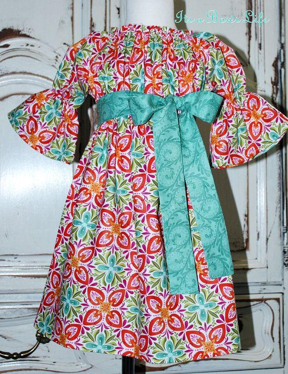 Children\'s Fall peasant dress | Sewing | Pinterest