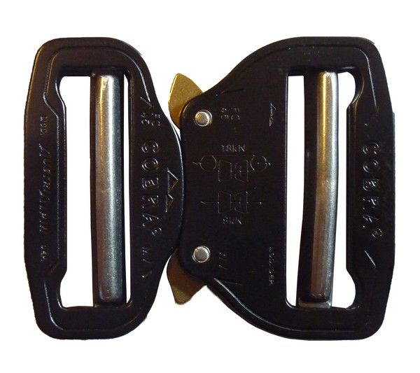 """AustriAlpin Alloy Cobra Buckle FC45KVV 1.75"""" (45mm) Dual Adjustable, No Sewing Required"""