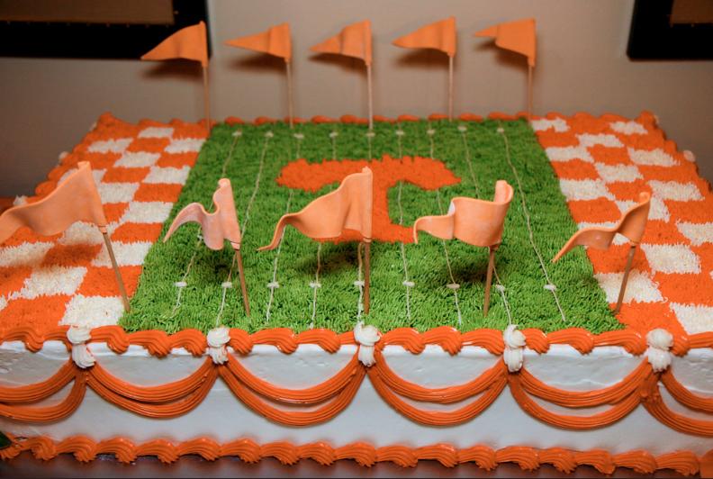 University Of Tennessee Custom Football Cake Groomscake Birthday Buttercream Knoxville Magpies Bakery TN