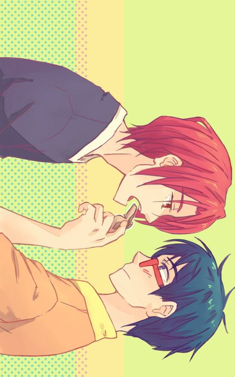 Free Iwatobi Swim Club Rei Ryugazaki X Rin Matsuoka Oh My God He S Eating One Of The Butterfly Cookies Asdfghjkl Dead Check out our rin matsuoka selection for the very best in unique or custom, handmade pieces from our digital prints shops. free iwatobi swim club rei ryugazaki