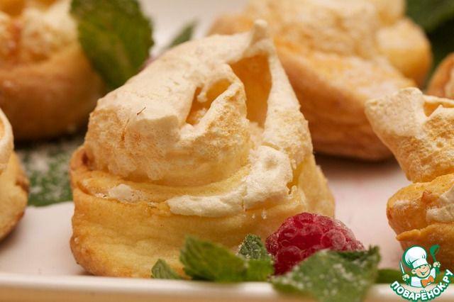 Творожное печенье с безе - кулинарный рецепт