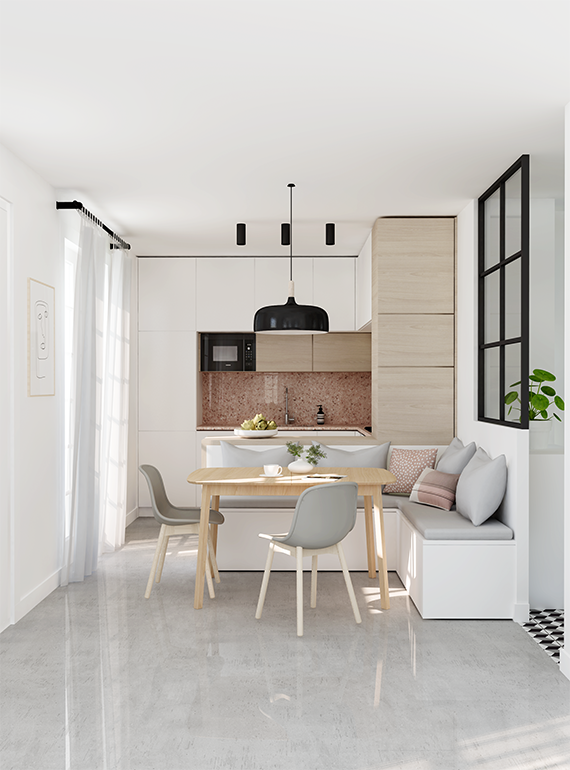 E Design Project: Small Kitchen Design By Eleni Psyllaki Of My Paradissi.
