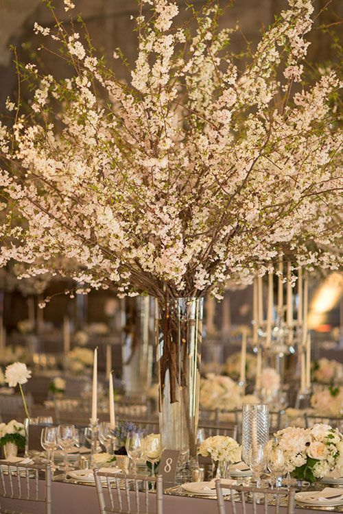 Cherry Blossoms Transformed This New York City Wedding Into a Romantic Indoor Garden