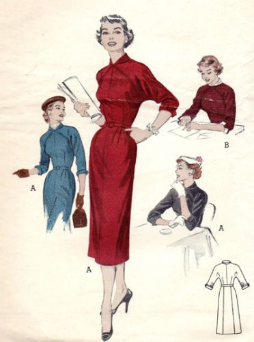 Vintage Sewing Pattern Butterick 6671 Day Dress Ebay Sewing