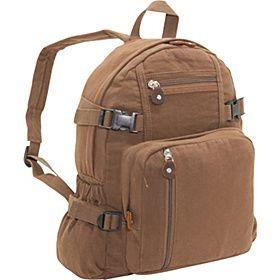 Rothco Vintage Canvas Backpack - Brown - via eBags.com! $21.49