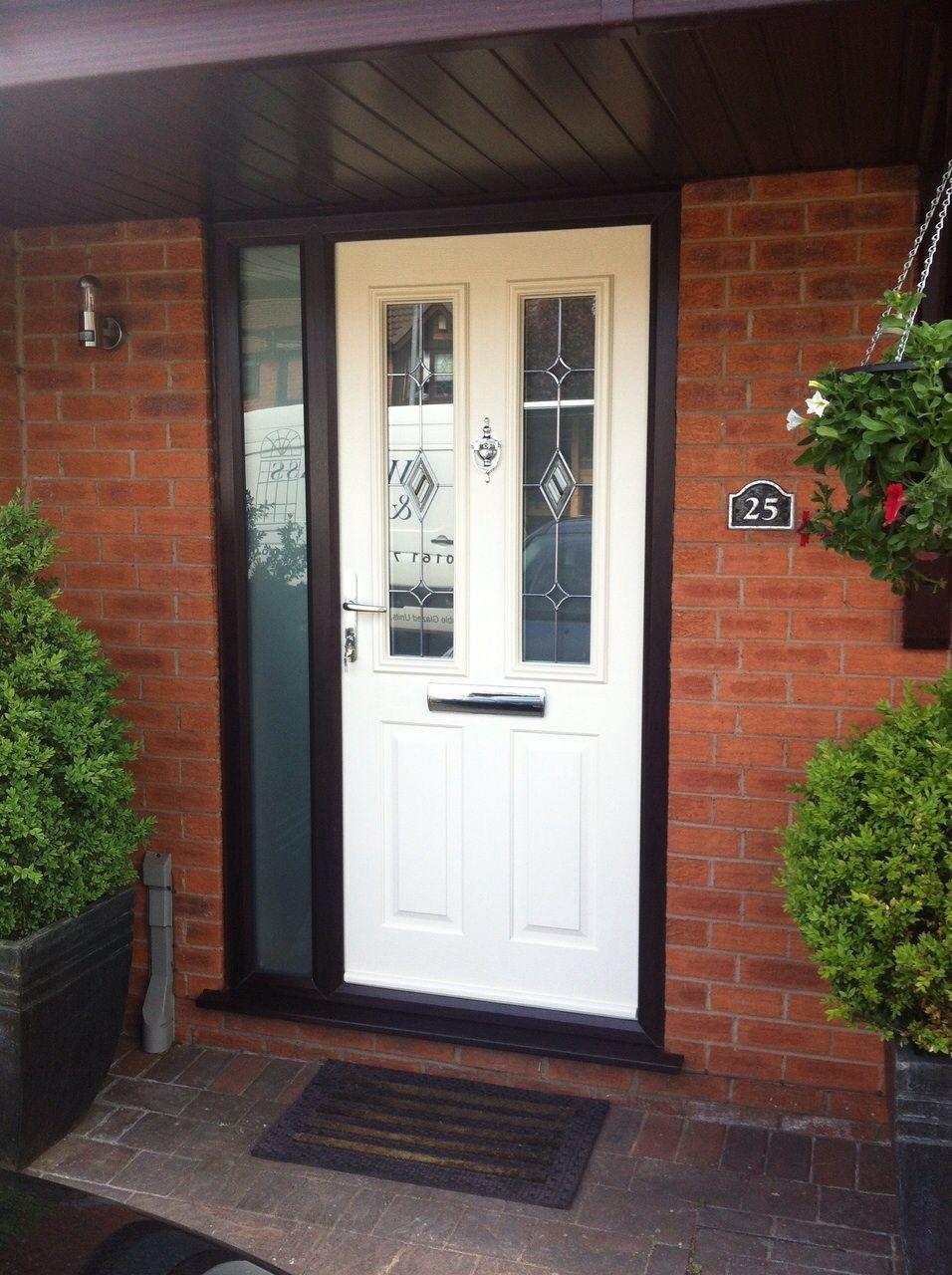 Ludlow In Cream With Rosewood Frame Composite Door Front Door Doors