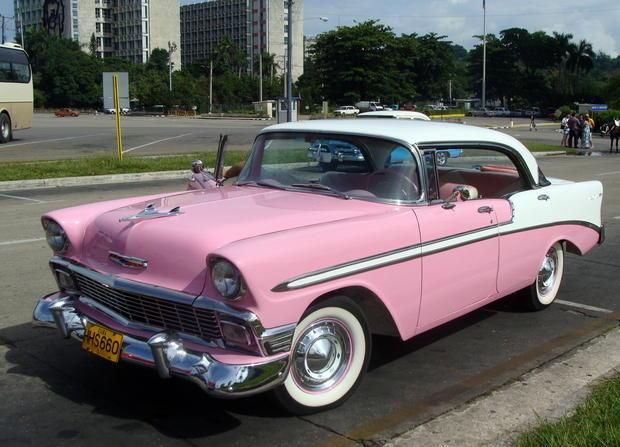 Cuban Classic Cars With Names Of Each Cars