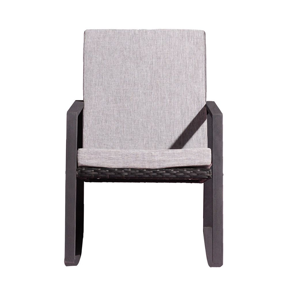Fabulous Rocking Chair Patio Seating Chair With Cushioned Home Ibusinesslaw Wood Chair Design Ideas Ibusinesslaworg