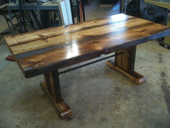 Reclaimed Barn Wood Dining Table The Table Is This Photo Is Sold