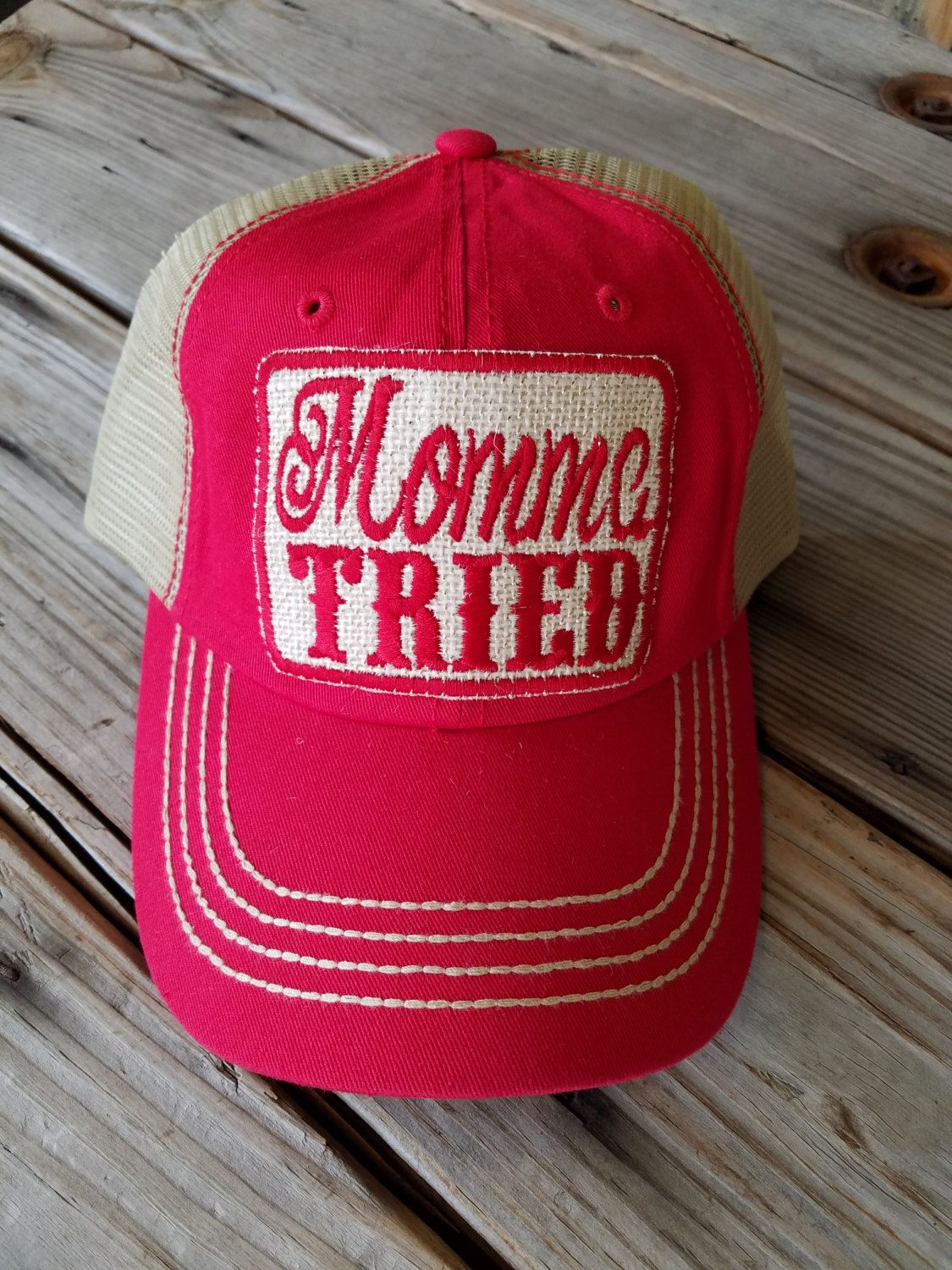 Momma Tried Trucker Hat With Patch Hadmade Patch Womens Hat Womens Cap Boutique Hat By Gameongraphics On E Vintage Trucker Hats Cowgirl Hats Hats For Women