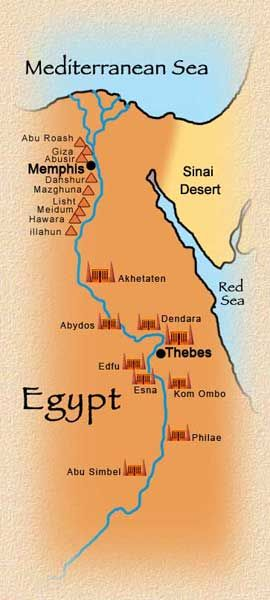 Map of Egyptian Pyramids and Temples | History | Pinterest | Egypt