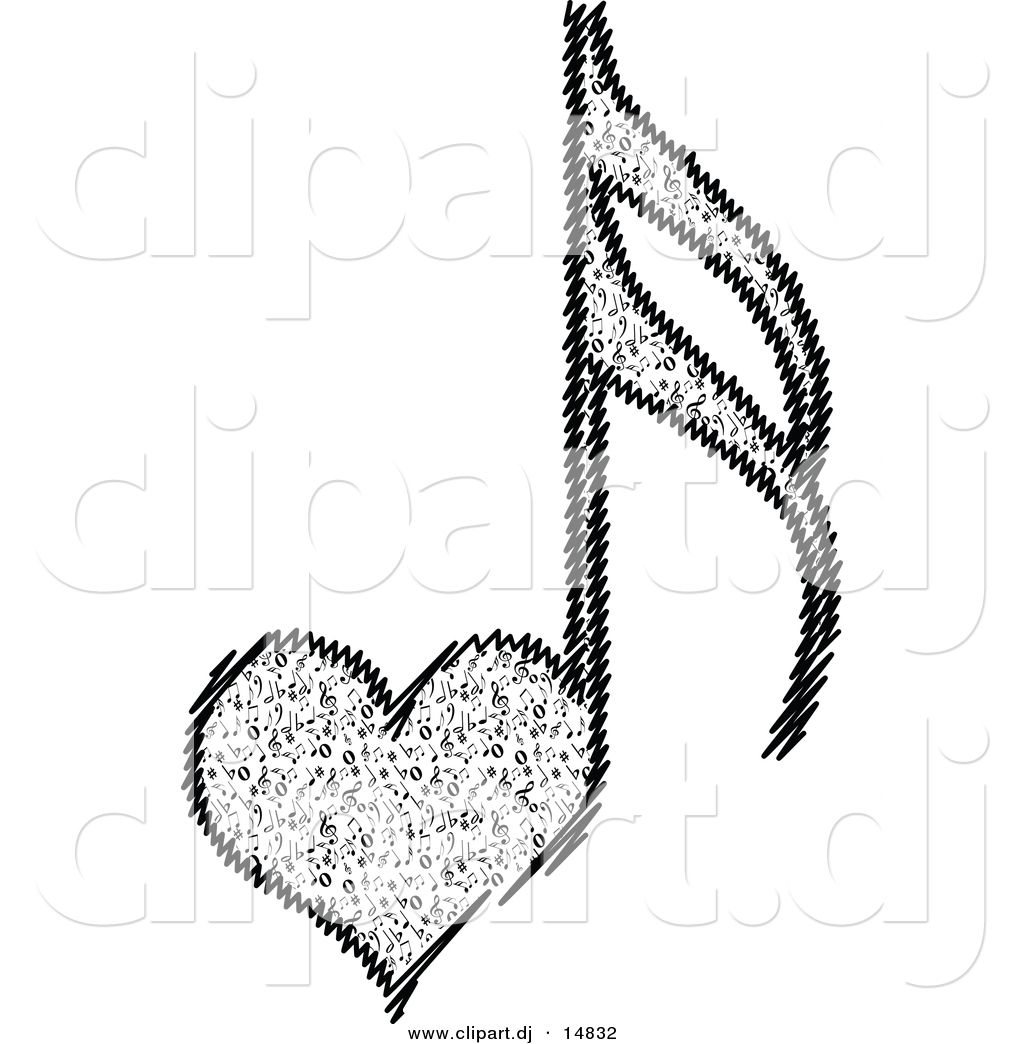 vector clipart of a love heart music notes tattoo pinterest