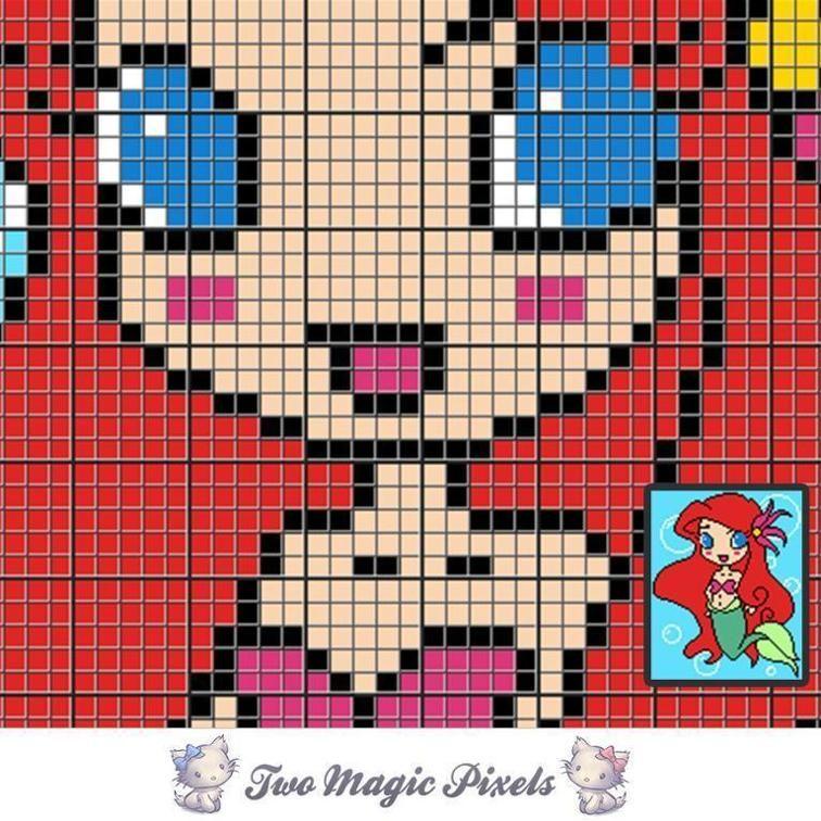 Buck and Doe C2C Crochet Graph | crochet ideas | C2c crochet, Graph