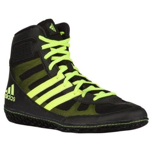 cd794765547e Adidas Mat Wizard David Taylor Edition Wrestling Shoes Black Solar Yellow  Size 9.5
