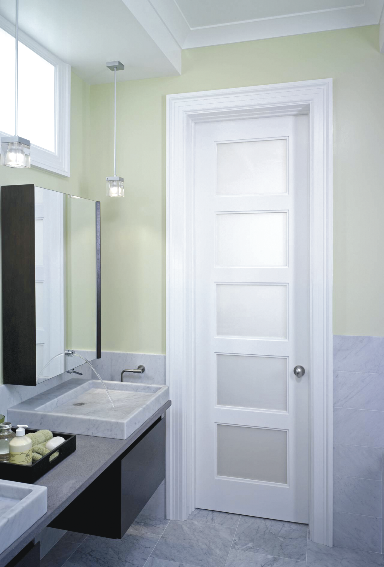 5 Panel Privacy Glass Door Update Your Bathroom In Just