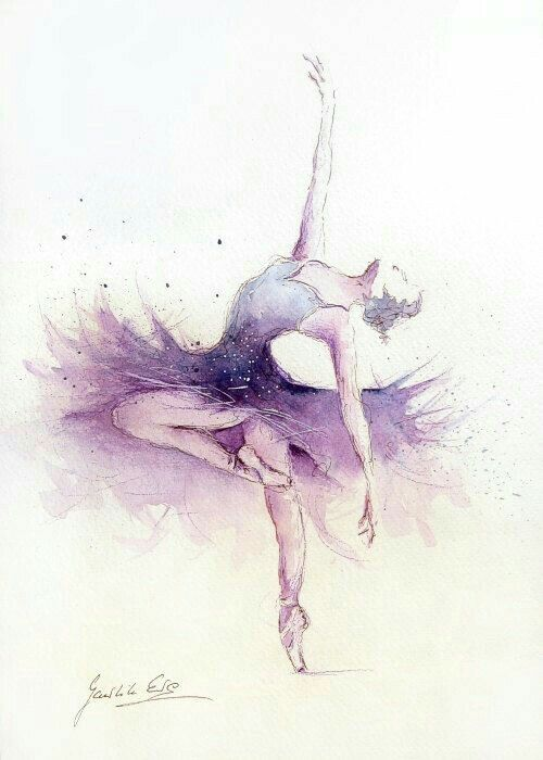 Bailarina | Quadros | Pinterest | Dancing, Watercolor and Draw