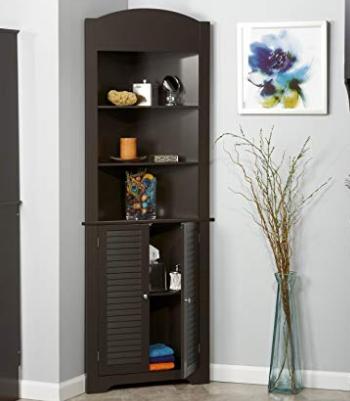 Riverridge Ellsworth Collection Tall Corner Cabinet Espresso Tall Corner Cabinet Bathroom Corner Cabinet Corner Cabinet