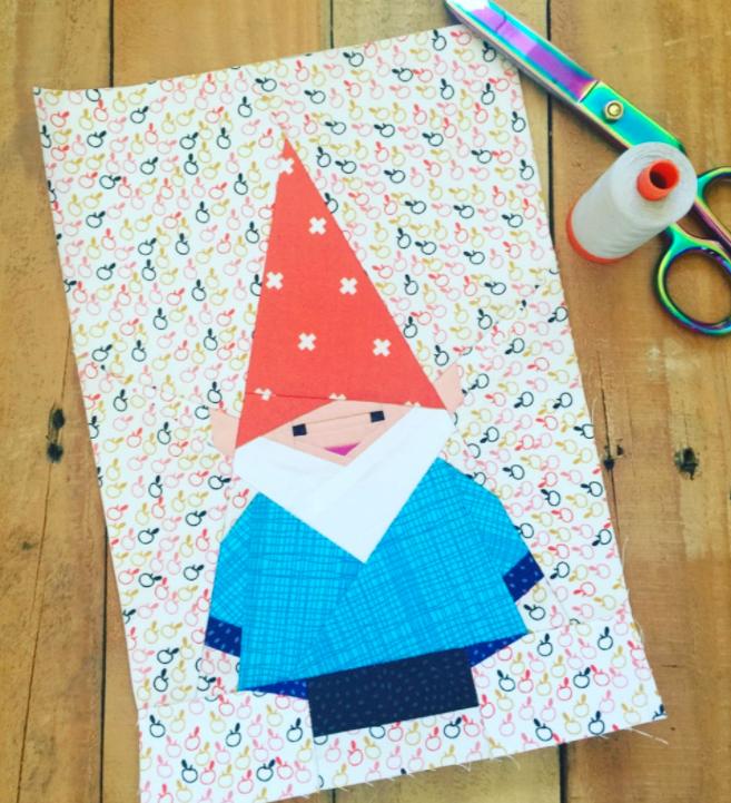 Free Quilt Pattern Mr Gnome I Sew Free Foundation Paper Piecing Patterns Foundation Paper Piecing Paper Piecing Patterns