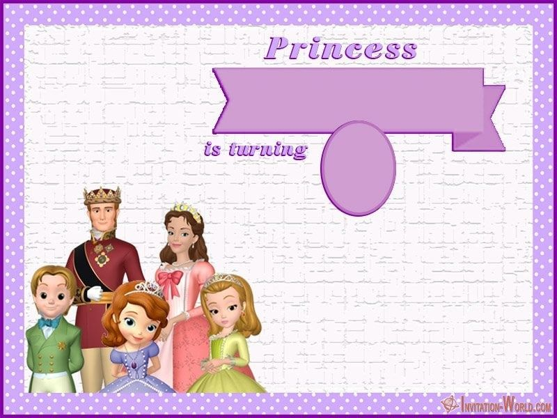 Sofia The First Diy Birthday Template Invitation World Com In 2020 Birthday Template Free Online Invitation Templates Sofia The First