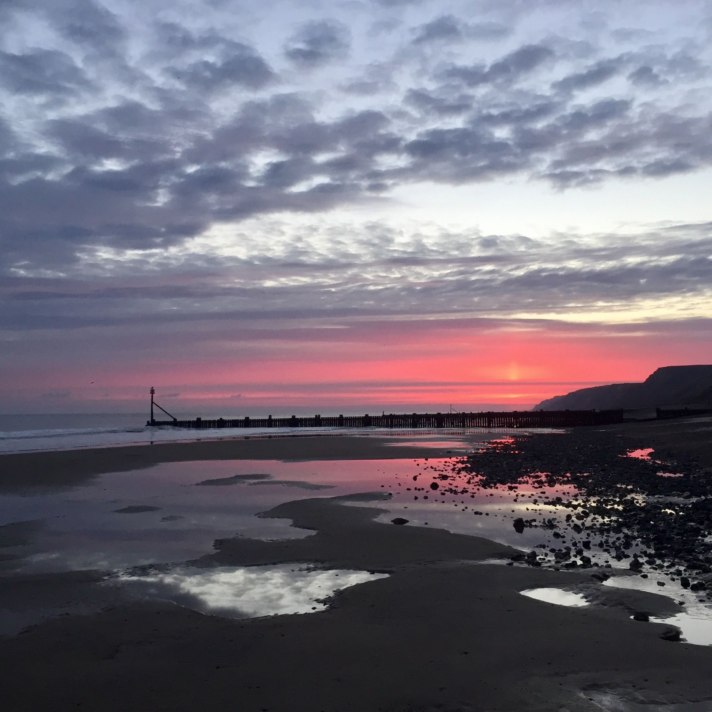 Image result for North Norfolk beach at high tide with sunrise Pinterest