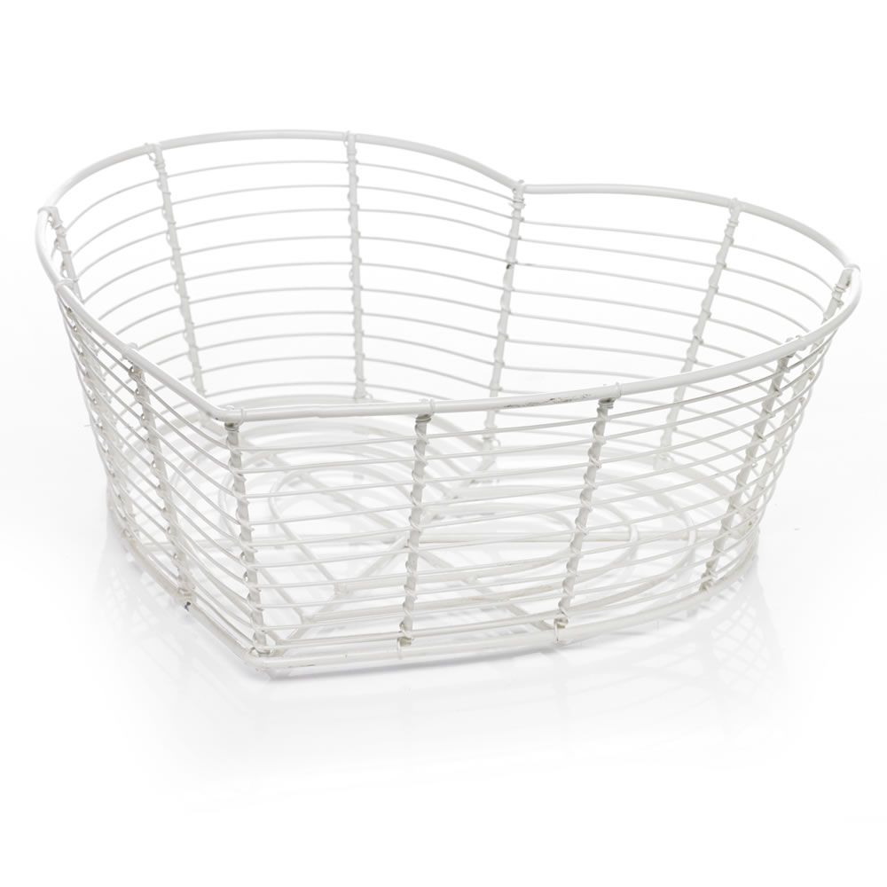 Wilko Heart Storage Basket Cream Small | Storage | Pinterest ...