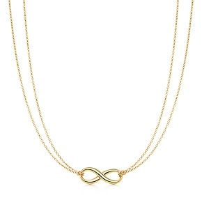 4f519c4b2 Tiffany Infinity pendant in 18k gold. Birthday? Love this SO much. Sunny  has it in silver.... i bought it for her :P