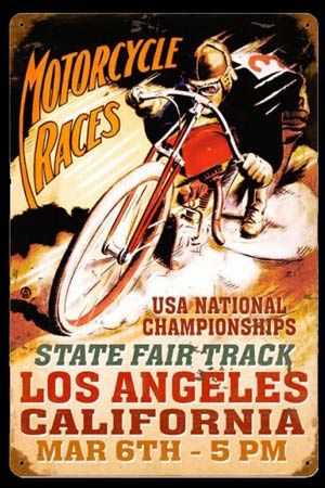Click to find out more about Motorcycle Races - National Championship Sign