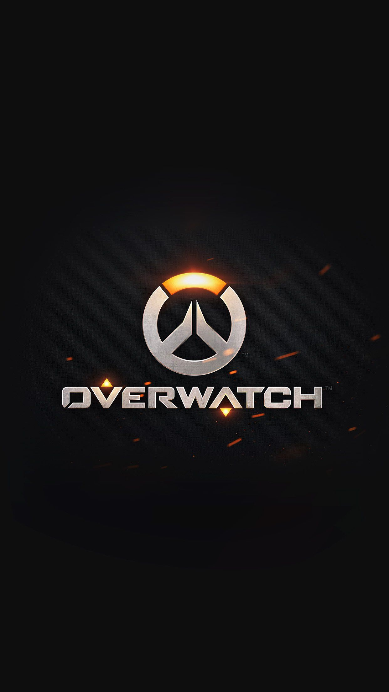 Nice Overwatch Logo Simple Game Art Illustration Dark Iphone6 Plus