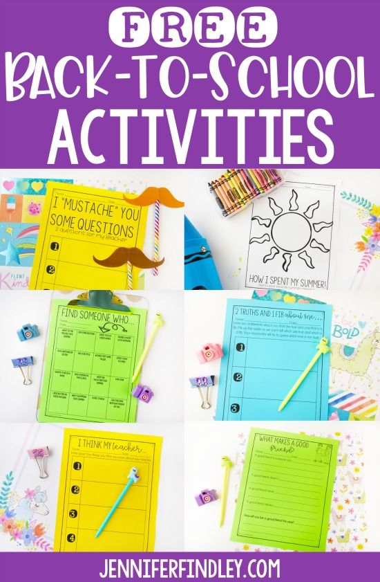 Photo of Free Back to School Activities for Grades 3-5