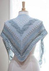 Age of Brass and Steam Shawl - free pattern knit in Feza Alp Natural - Hill Country Weavers